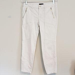 WHBM WHITE SKINNY CROP PANTS SZ 6